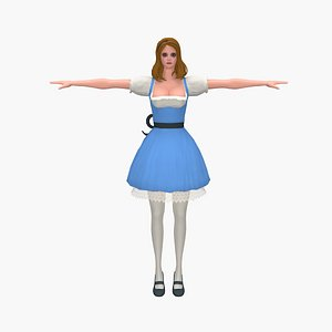 3D model woman princess