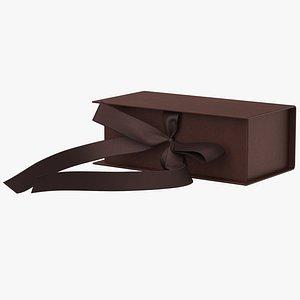 3D gift box brown