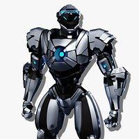 Robot character mecha game asset