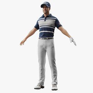 Golf Player 3D model