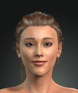 3D model Ariana Grande the great singer