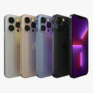 3D model Apple iPhone 13 Pro Max All Color