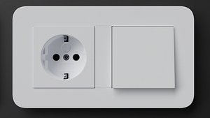 3D E3 Switches and Socket by Gira