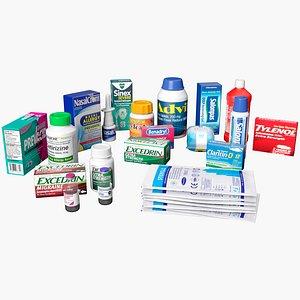 pills drug medicine model