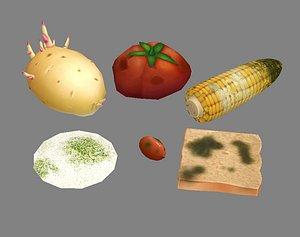 moldy food spoiled 3D
