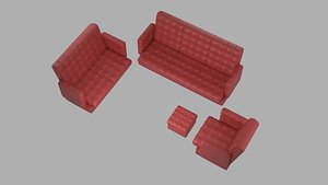 red leather sofa set model