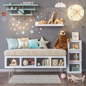 set furniture toys 3D