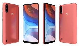 Motorola Moto E7i Power Coral Red 3D