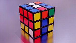 3D Rubik cube resolved and non resolved model