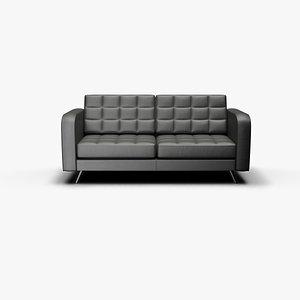 3D sofa udim leather model