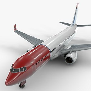 3D boeing 737-8 norwegian air model