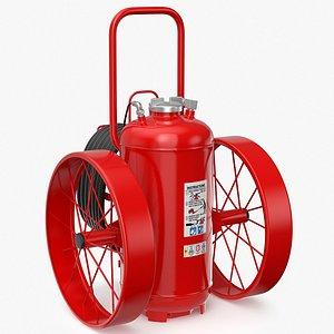 Wheeled Extinguisher v1 3D model