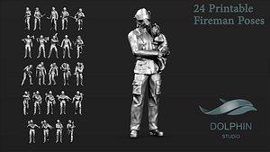 Fireman Figure Set 01 3D model