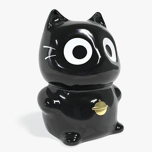 3D Lucky fortune cat model