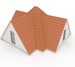 3D Realistic Roof Shingles 1 model