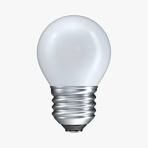 Light Bulb Globe G45 E27 3D