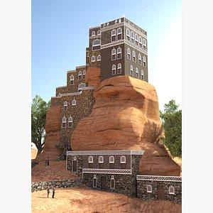 stone house rock 3D model