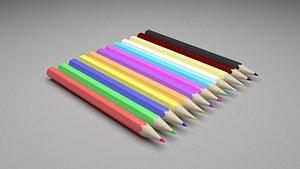 3D Colored Pencils Set