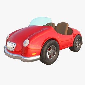 cartoon toy car 3D model