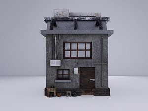 3D Cyberpunk Building 7
