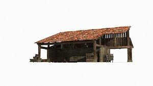 ancient blacksmith shop 3D