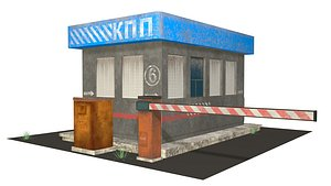 3D model security booth