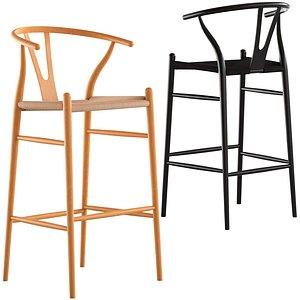 Cult Furniture Wish Wooden Stool 3D