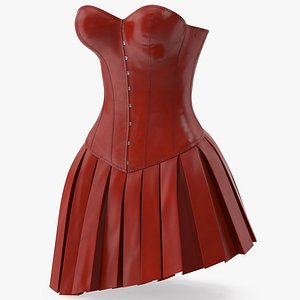 3D model Leather Corset with Skirt