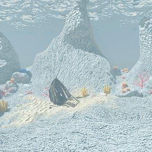 3D Undersea world 01 model