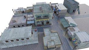 3D interior exterior slum city