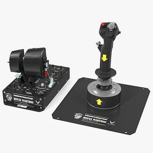 UAV Ground Control Station Thrustmaster Joysticks 3D model