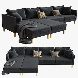 3d ikea karlstad 5 sofa