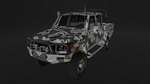 Land Cruiser Military Utility Truck 3D model