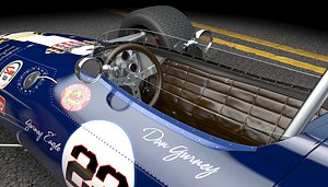 3D eagle racecar model