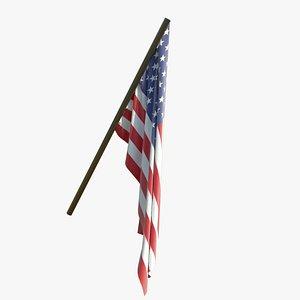 flag wind 3D