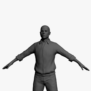 3D man male guy model