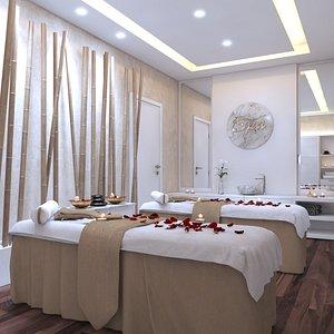 Spa Massage Room Interior model