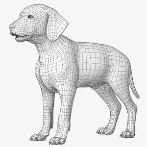 Dalmatian Puppy Lowpoly model