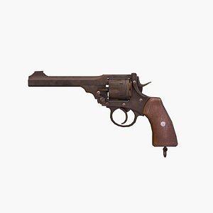 revolver rigged 3D model