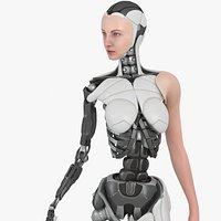 Cyborg Girl Bella, Rigged, PBR