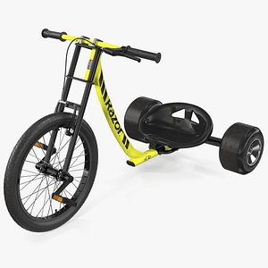 3D Razor DXT Drift Trike Yellow