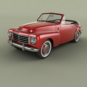 3D Volvo PV445 Convertible