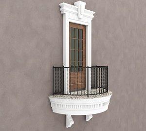 Balcony Windows 3 3D model