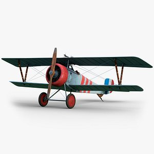Nieuport 17 GameReady LODs 3D