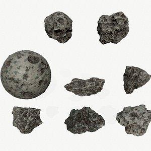 Asteroid Set 3D
