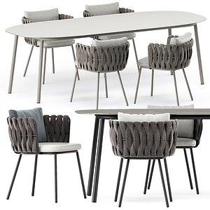 3D Tosca armchair and Tosca table