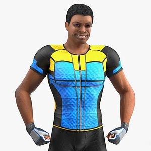 light skin black sportsmen 3D model