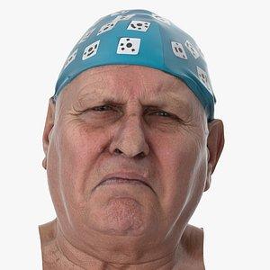 3D model Homer Human Head Sadness Clean Scan