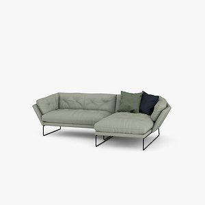 3D Saba Italia New York Corner Sofa