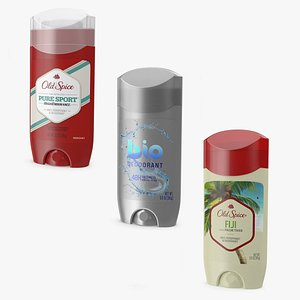 Solid Deodorants Collection 3D model